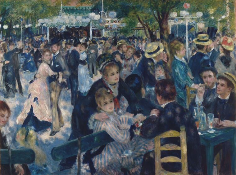 Картина Пьер Огюст Ренуар Dance at the Moulin de la Galette