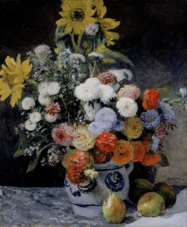 Картина Пьер Огюст Ренуар Mixed Flowers in an Earthenware Pot