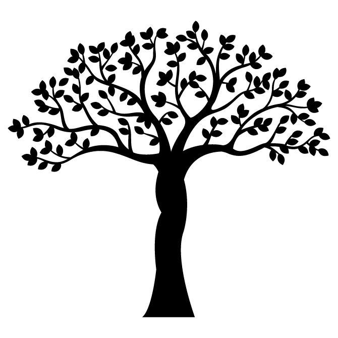 Наклейка интерьерная Дерево с широкой кроной - Карандаш