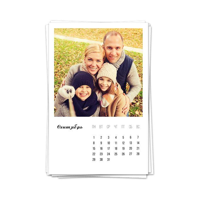 Календари фотокарточки
