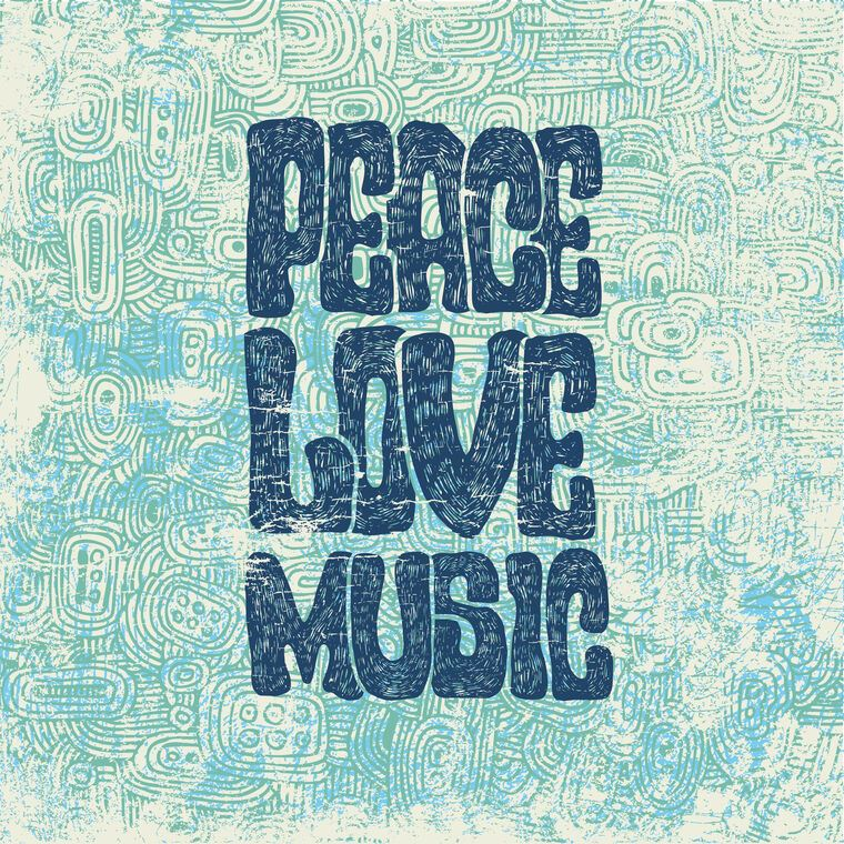 Постер Peace love music