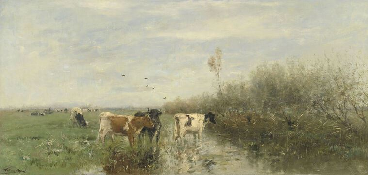 Картина Cows in a Soggy Meadow (Виллем Марис)