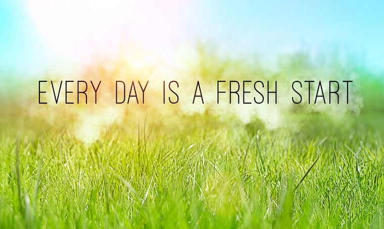Постер Every day is a fresh start