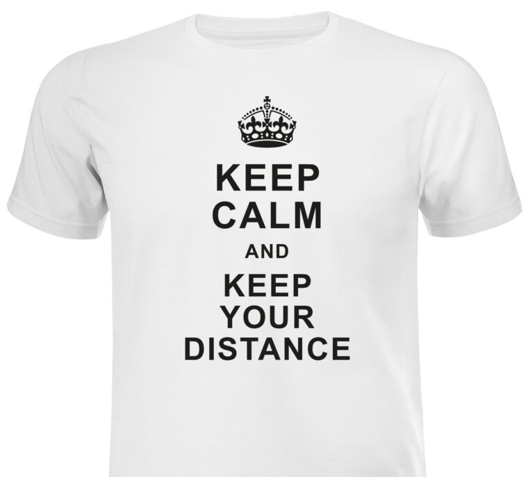 Майки, футболки Keep calm and keep your distance