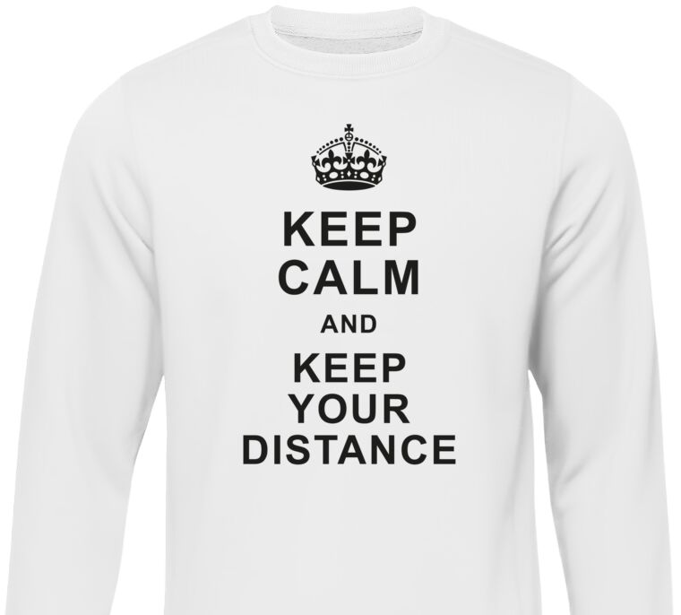 Свитшоты Keep calm and keep your distance