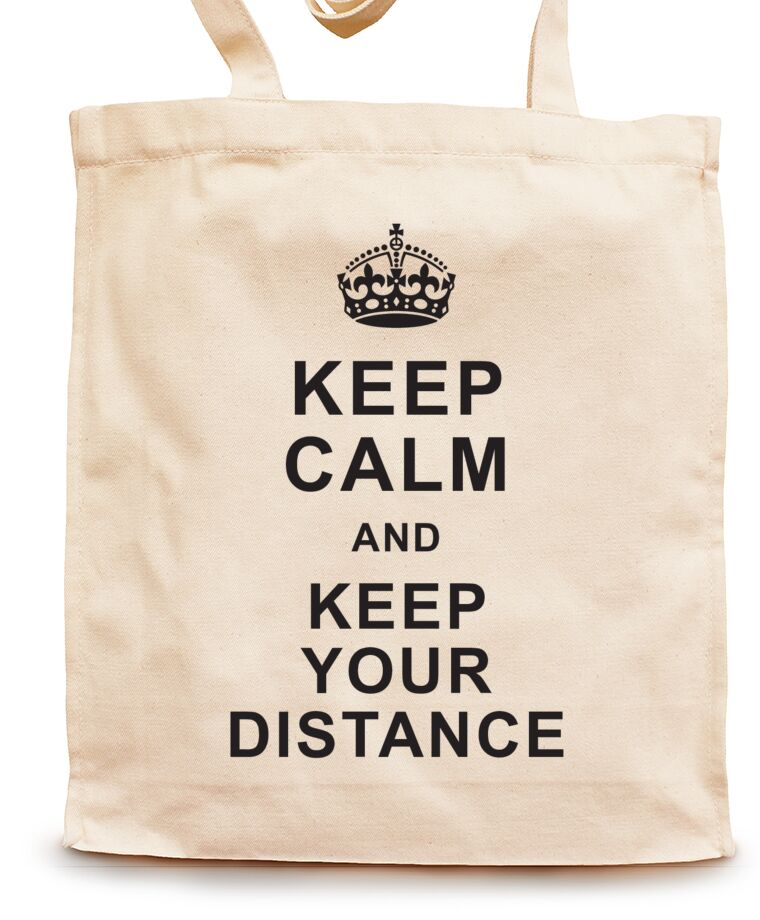 Сумки-шопперы Keep calm and keep your distance